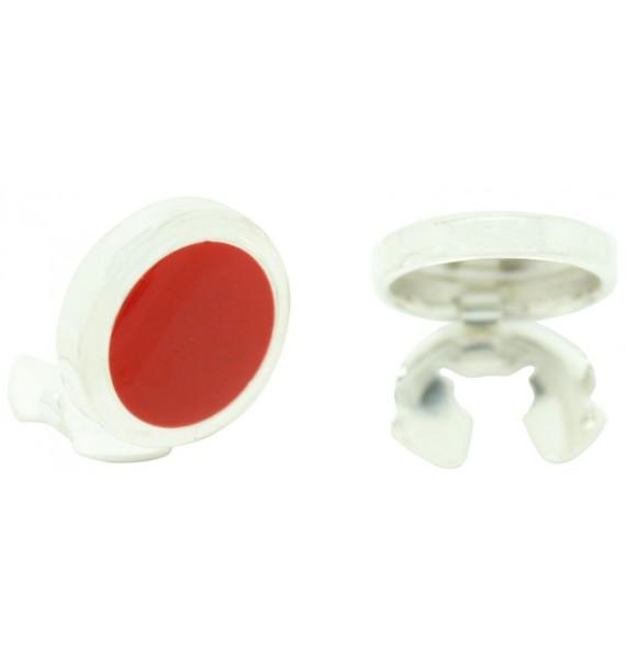 Cubrebotones rojo Esmaltado Plata 925