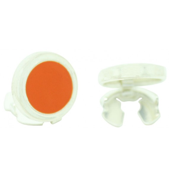 Sterling Silver Orange Button Covers
