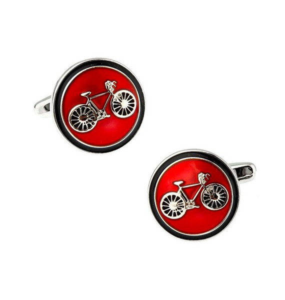 Classic Red Bicycle Cufflinks