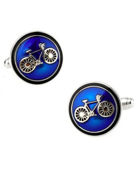 Classic Blue Bicycle Cufflinks