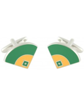 Baseball Field Cufflinks
