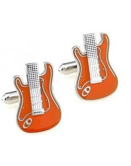 Gemelos Guitarra Eléctrica Naranja