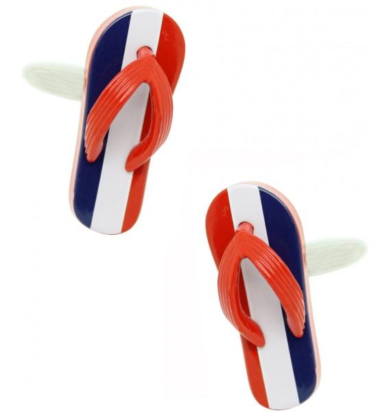 French Flip Flop Cufflinks