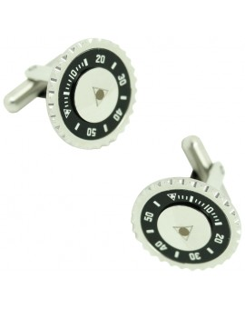 Black Speedometer Official Cufflinks