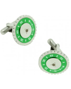 Green Speedometer Official Cufflinks