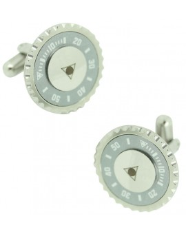 Silver Grey Speedometer Official Cufflinks