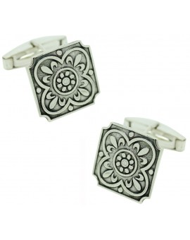Sterling Silver Floor Tile Cufflinks