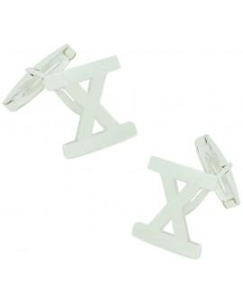 Sterling Silver X Cufflinks