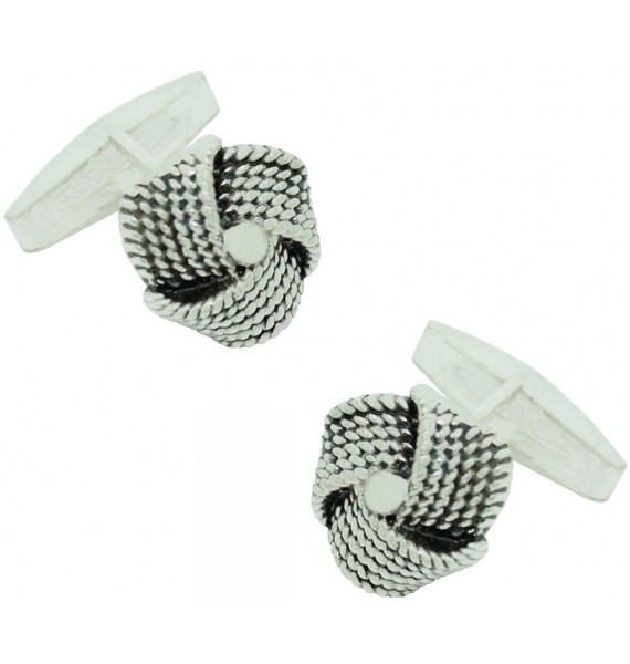 Sterling Silver Ball of Wool Cufflinks