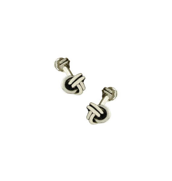 Sterling Silver Double Knot Cufflinks