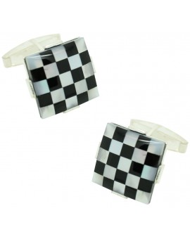 Sterling Silver Chess Cufflinks