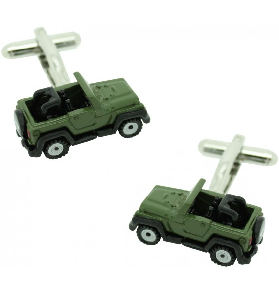 Green Jeep Willys Cufflinks