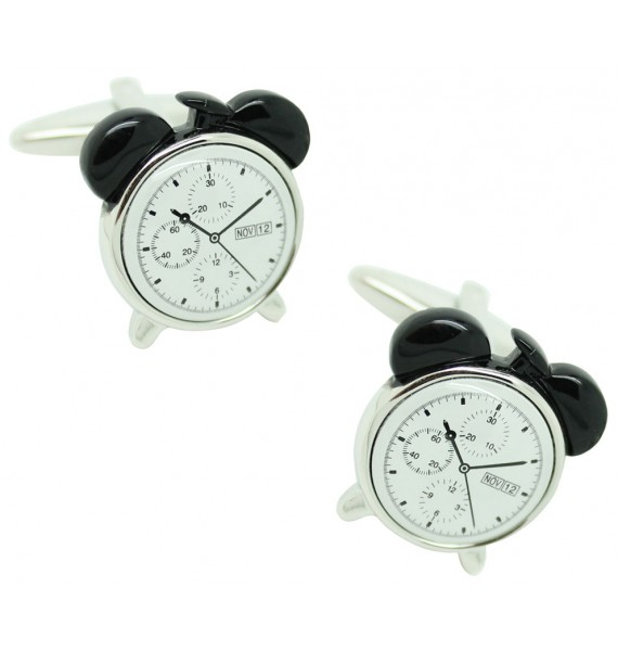 Alarm Clock black Cufflinks