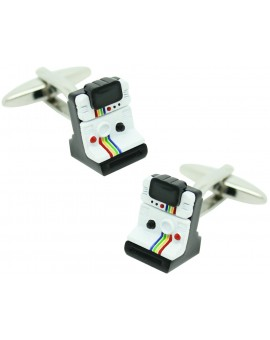 Polaroid Rainbow White Cufflinks