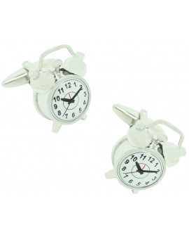 Alarm Clock 3D Cufflinks