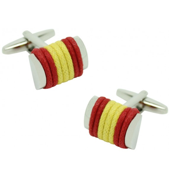 Spain Flag Rope Cufflinks