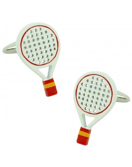 Spain Padel Racket Cufflinks