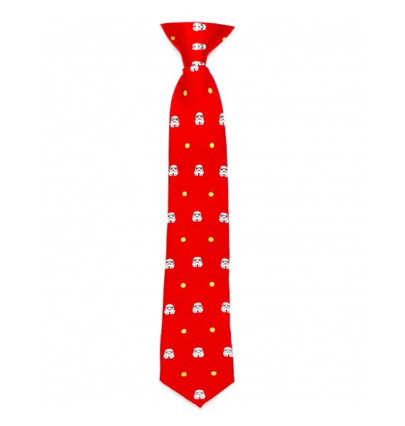 Red Trooper Dot Tie for Boys