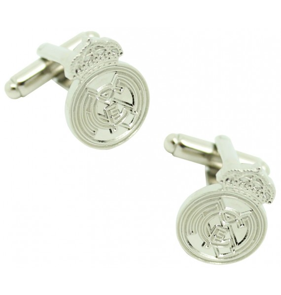 Silver Plated Real Madrid FC Cufflinks