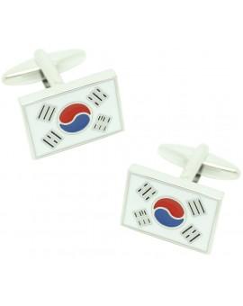 Gemelos para camisa Bandera Corea del Sur