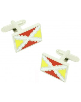 Spanish Tercio Flag Cufflinks