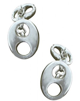 Sterling Silver Double Hawser Holes Cufflinks