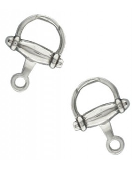 Sterling Silver Small Horse Bit Cufflinks