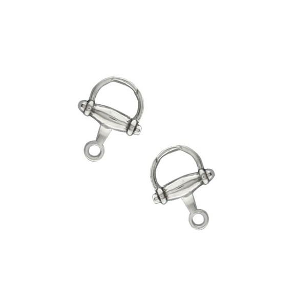 Sterling Silver Small Horse Bit Cufflinks