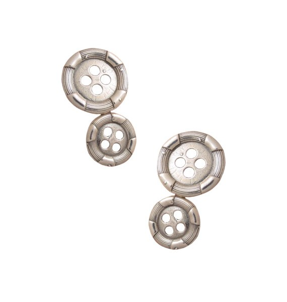 Sterling Silver Double Button Cufflinks