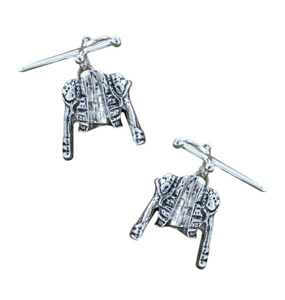 Sterling Silver Bullfighter Jacket and Sword Cufflinks
