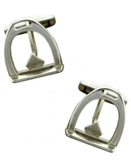 Sterling Silver Stirrup Cufflinks