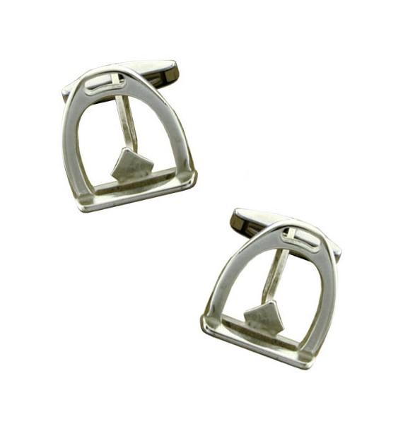 Sterling Silver Stirrup Cufflinks