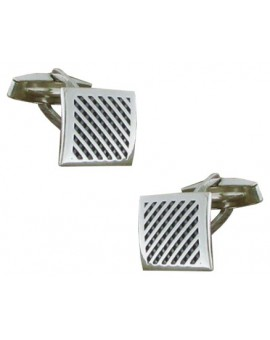 Sterling Silver Wickerwork Cufflinks