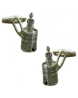 Gemelos Torre del Oro Plata 925