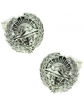 Sterling Silver Veterinary Emblem Cufflinks