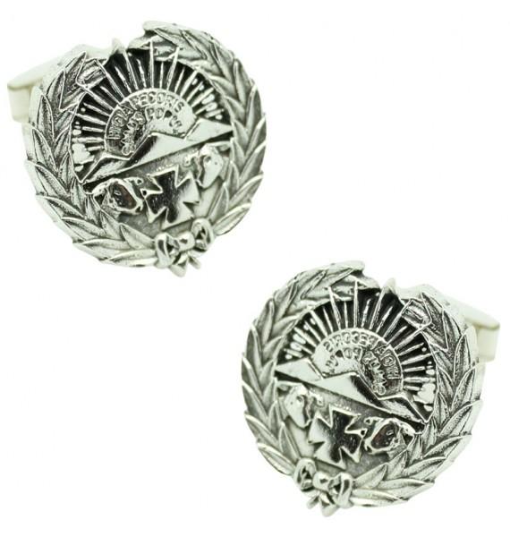 Sterling Silver Veterinary Emblem Cufflinks
