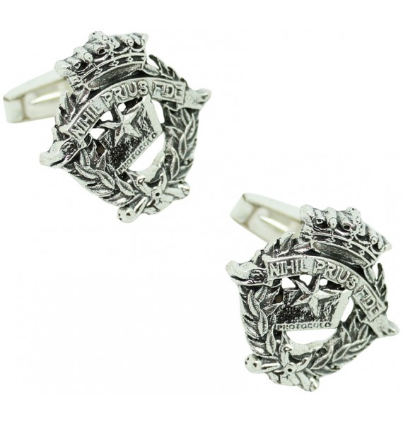 Sterling Silver Notary Emblem Cufflinks