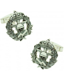 Sterling Silver Business Administration Emblem Cufflinks