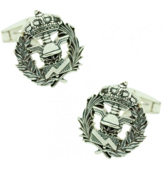 Sterling Silver Business Administration Emblem Cufflinks