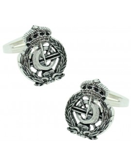 Sterling Silver Computer Engineering Emblem Cufflinks