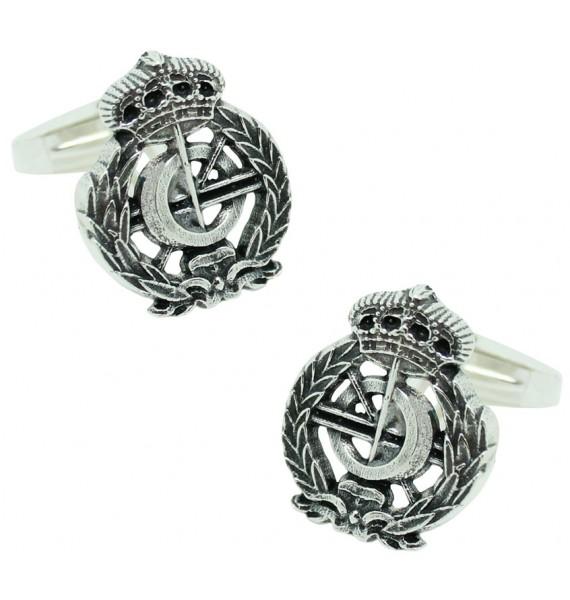 Sterling Silver Computer Engineering Emblem Cufflinks