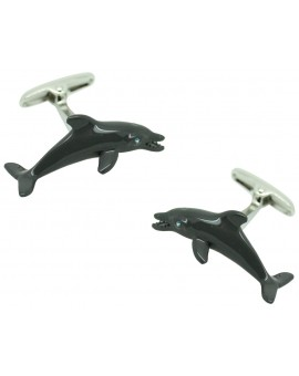 Grey Dolphin Cufflinks
