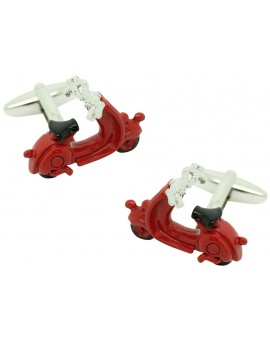 3D Red Vespa Cufflinks