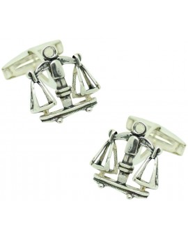 Sterling Silver Symbol of Justice Cufflinks
