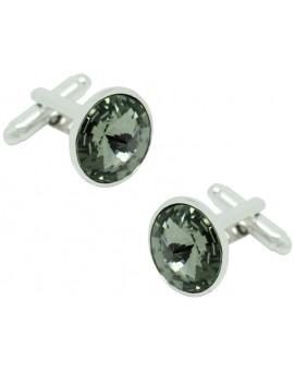 Gemelos Círculo Crystal Gemstone Gris
