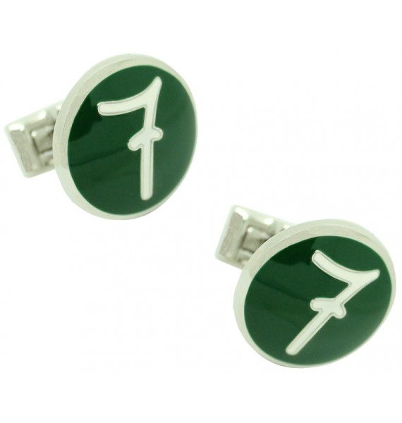 Gemelos camisa Skultuna Número 7 verde Diseño Lino Ieluzzi