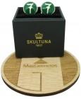 Gemelos personalizado Skultuna Número 7 verde para camisa