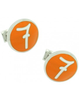 7 Design Lino Ieluzzi Skultuna Cufflinks - Orange