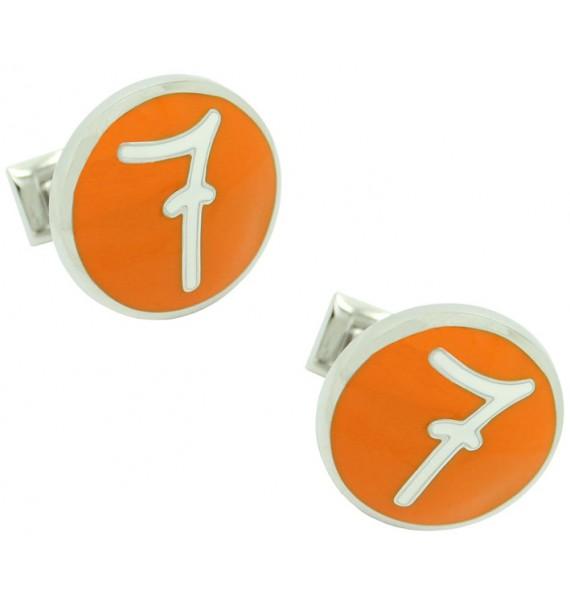 Gemelos camisa Skultuna Número 7 naranja Diseño Lino Ieluzzi