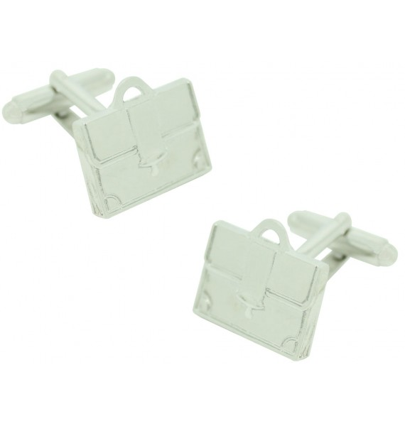 Silver Executive Briefcase Cufflinks